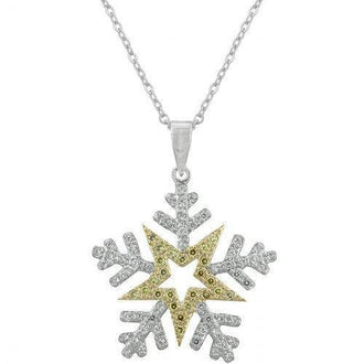 Two-toned Snowflake Pendant (pack of 1 ea)