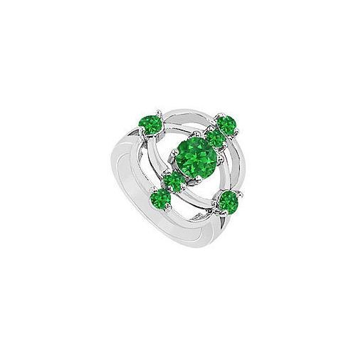 Emerald Rng : 14K White Gold - 1.00 CT TGW