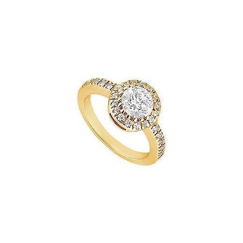 Diamond Engagement Ring : 14K Yellow Gold - 1.00 CT Diamonds