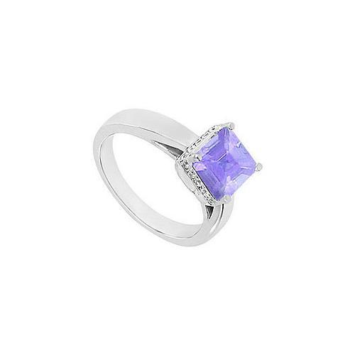 Tanzanite and Diamond Ring : 14K White Gold - 1.00 CT TGW
