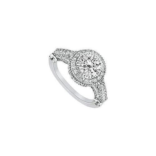 Diamond Engagement Ring : Platinum - 1.25 CT Diamonds