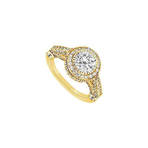 Diamond Engagement Ring : 14K Yellow Gold - 1.25 CT Diamonds