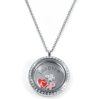 Inspire Floating Locket ringed with stones