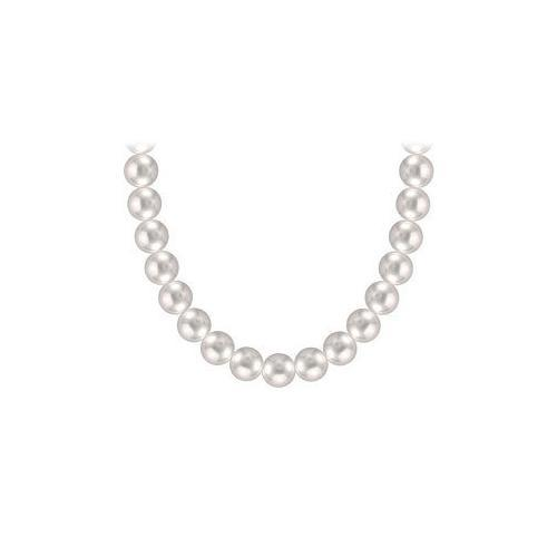 Akoya Cultured Pearl Necklace : 14K Yellow Gold  6 MM