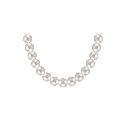 Akoya Cultured Pearl Necklace : 14K Yellow Gold  10 MM