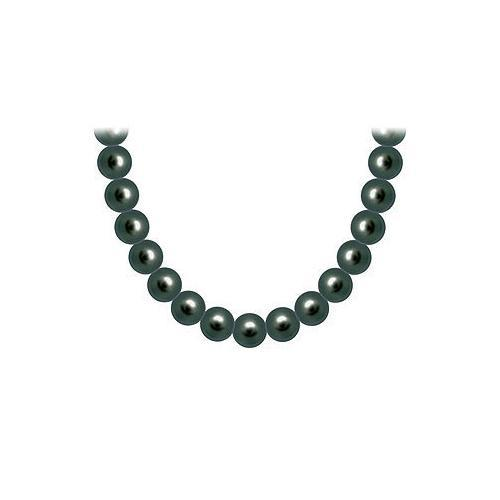 Freshwater Cultured Pearl Necklace : 14K White Gold  9 MM