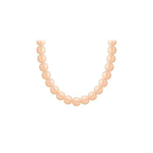 Freshwater Cultured Pearl Necklace : 14K Yellow Gold  5 MM