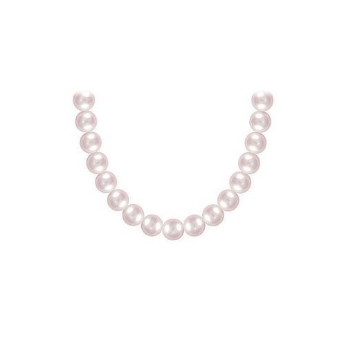 Freshwater Cultured Pearl Necklace : 14K Yellow Gold  7 MM