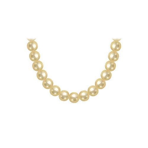 South Sea Pearl Necklace : 18K White Gold  10.00 - 12.00 MM