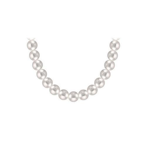 Tahitian Pearl Necklace : 18K White Gold  10.00 - 12.00 MM