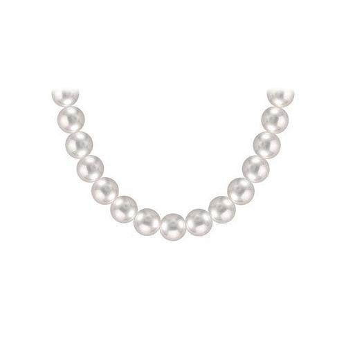 Tahitian Pearl Necklace : 18K White Gold  12.00 - 14.00 MM