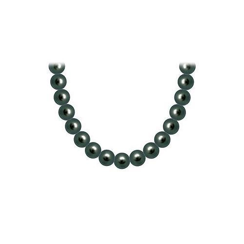 Tahitian Pearl Necklace : 18K White Gold  8.00 - 10.00  MM