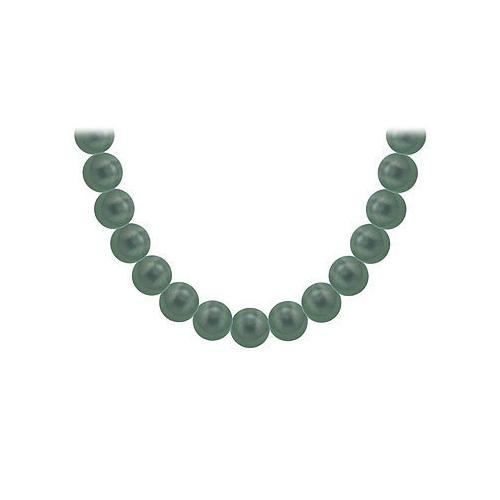 Tahitian Pearl Necklace : 18K White Gold – 12.00 - 14.00 MM
