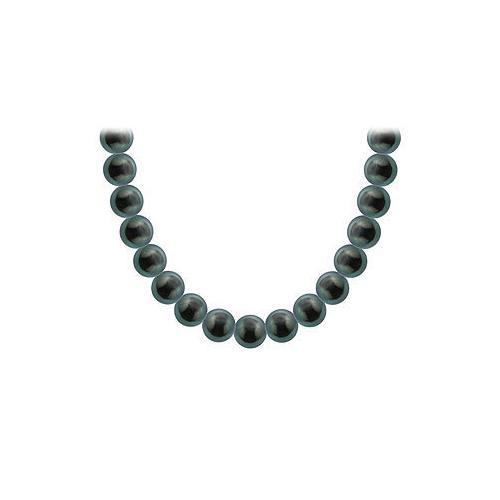 Tahitian Pearl Necklace : 18K White Gold – 8.00 - 10.00 MM