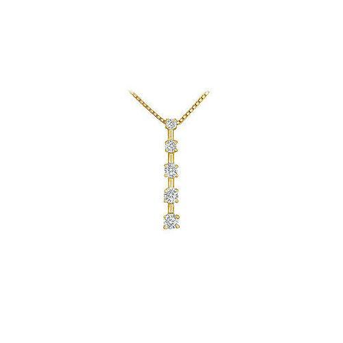 Diamond Journey Pendant : 14K Yellow Gold - 0.50 CT Diamonds