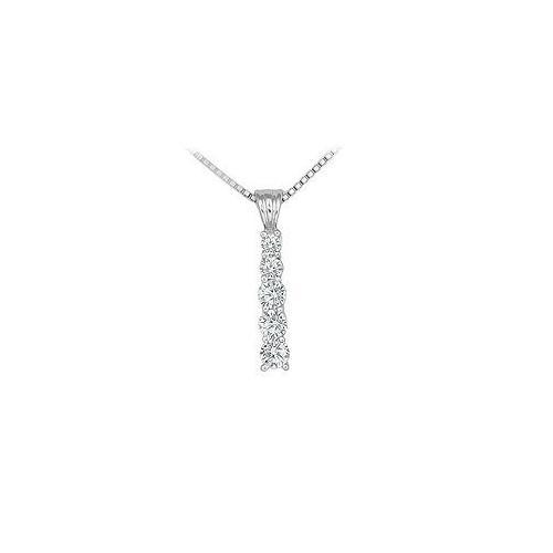 Diamond Journey Pendant : 14K White Gold - 0.50 CT Diamonds