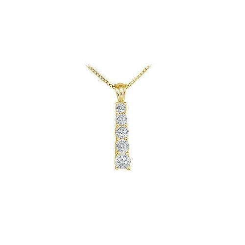Diamond Journey Pendant : 14K Yellow Gold - 1.50 CT Diamonds