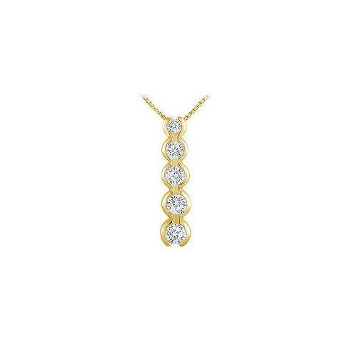 Diamond Journey Pendant : 14K Yellow Gold - 1.00 CT Diamonds