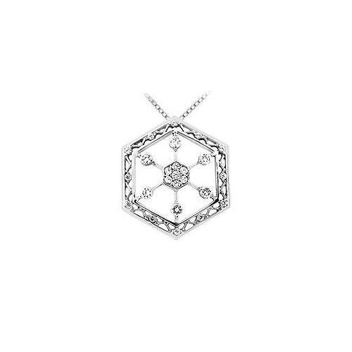 Diamond Pendant : 14K White Gold - 0.66 CT Diamonds