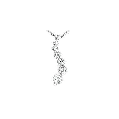 Diamond Journey Pendant : 14K White Gold - 1.50 CT Diamonds
