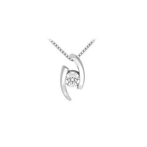 Diamond Pendant : 14K White Gold - 0.25 CT Diamonds
