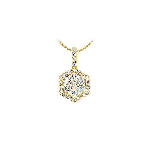 Diamond Pendant : 14K Yellow Gold - 0.66 CT Diamonds