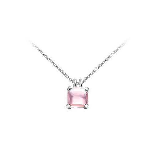 Pink Chalcedony Pendant : 14K White Gold - 5.00 CT TGW