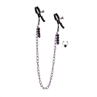Purple Chain Nipple Clamps