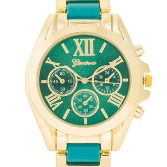 Teal Gold Watch