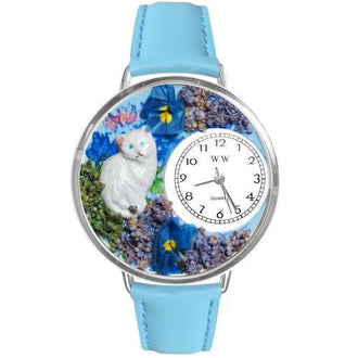 White Cat Watch in Silver (Large)