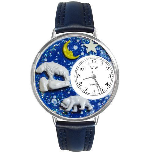 Polar Bear Watch in Silver (Large)