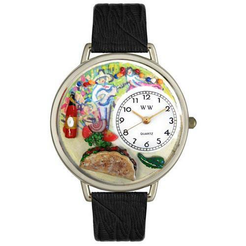 Taco Lover Watch in Silver (Large)