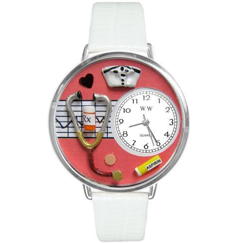 Nurse Red Watch in Silver (Large)