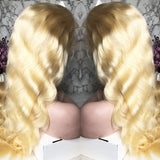 Preplucked Virgin 613 Blond Human Hair Lace Wig\ Body Wave | 100% Lace Front Wigs