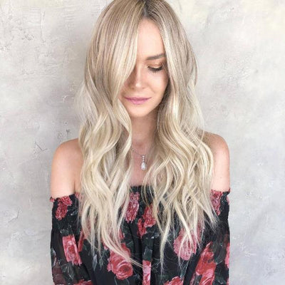 100% Lace wig-2019 NEW BLONDE WAVE WIGS - Maxky Design