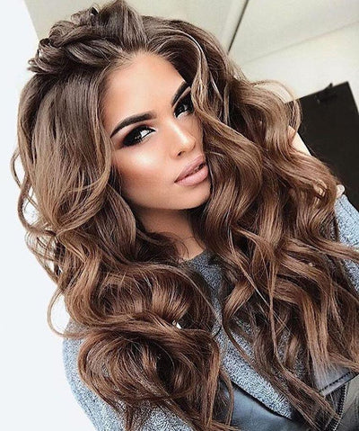100% Lace wig-2019INS hot dark brown wig - Maxky Design