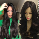 Kyller Long Black Wave Lace Front Wig | 100% Lace Front Wig - Maxky Design