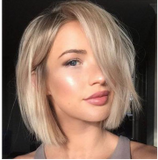 Gorgeous Blonde Fashion Bob Cut Hair Full Lace Front Wig | 100% Lace Front Wig