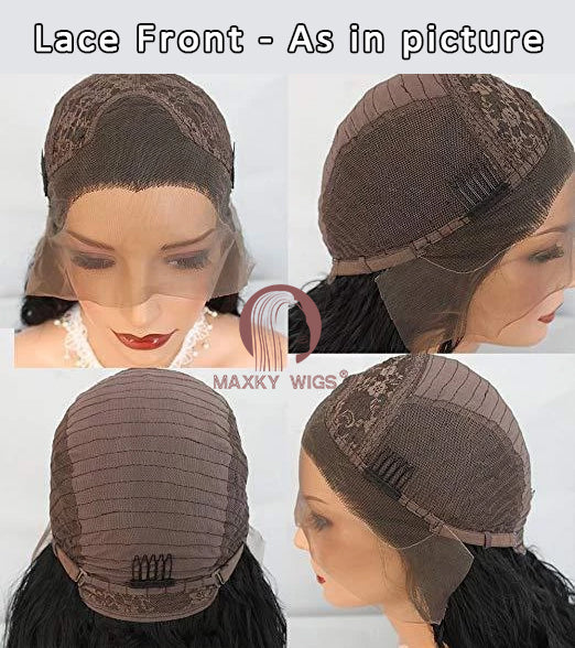 [ HOT ]Wave Black Lace Front Wig | 100% Lace Front Wig - Maxky Design