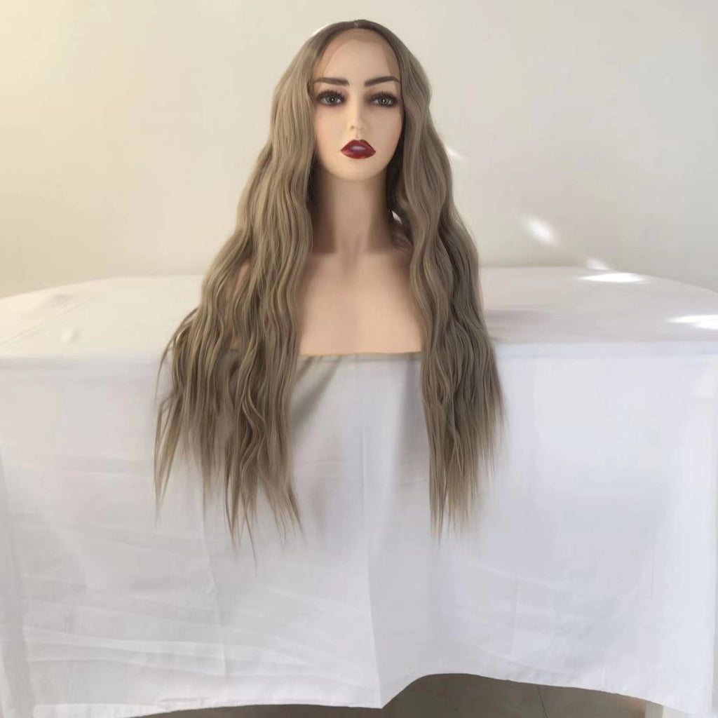 Long Milk White Curl Lace Front Wig | 100% Lace Front Wig - Maxky Design