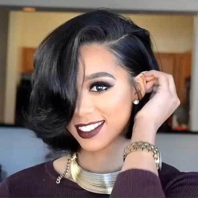 100% Lace wig-Best short wigs - Maxky Design