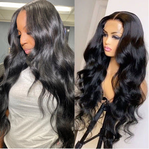 Swiss Lace + Invisible Knots 5x5 Lace Closure Human Hair Body Wave Wig | 100% Lace Front Wigs