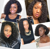 Jerry Curly 150% Density 13*6 Lace Front Human Hair Wigs With Baby Hair Pre-Plucked | 100% Lace Front Wigs