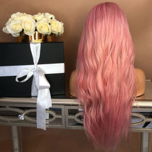 Load image into Gallery viewer, Pink wavy long hair