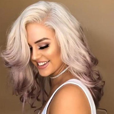 100% Lace wig-Beautiful White and pink wig - Maxky Design
