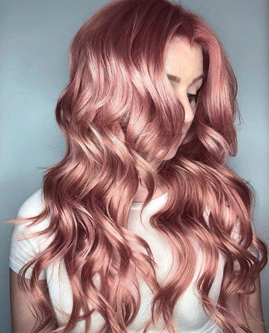 100% Lace Front Wig | Pink wavy wig - Maxky Design