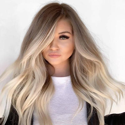 100% Lace Front Wig | New 190228-9-blond - Maxky Design