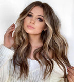 Honey Middle Long Wave Hair Lace Front Wig | 100% Lace Front Wig - Maxky Design