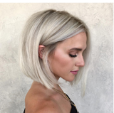 Short White Blone Lace Front Wig | 100% Lace Front Wig - Maxky Design