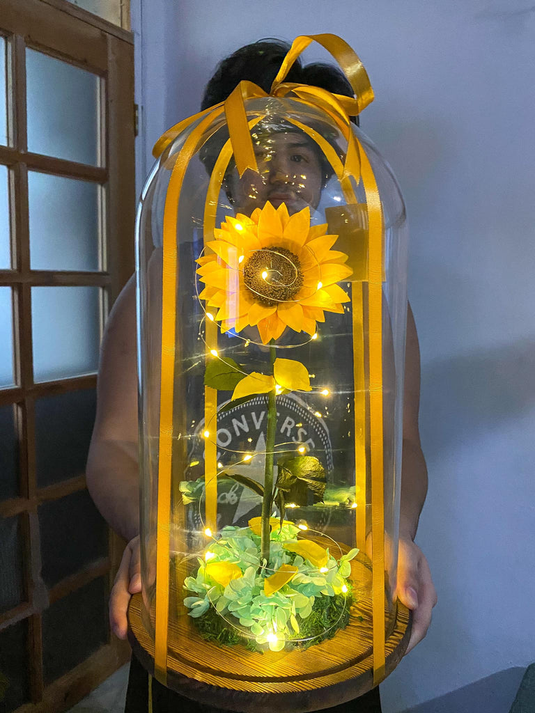 LED Sunflower Lamps With Hand Made